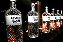Photo of Absolut Vodka limited edition bottles  at a private diner provided bye Absolut Vodka at a private location on Nov 12, 2010. ( For Pernod Ricard)