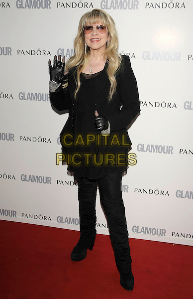 Stevie Nicks .Glamour Women Of The Year Awards held at Berkeley Square Gardens, London, England..June 7th 2011..inside arrivals full length black gloves glasses sunglasses top tunic trousers hand waving thumb up.CAP/PL.©Phil Loftus/Capital Pictures.