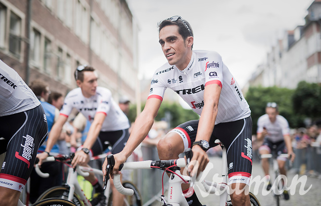 Alberto Contador (ESP/Trek-Segafredo)<br /> <br /> &quot;Le Grand D&eacute;part&quot; <br /> 104th Tour de France 2017 <br /> Team Presentation in D&uuml;sseldorf/Germany
