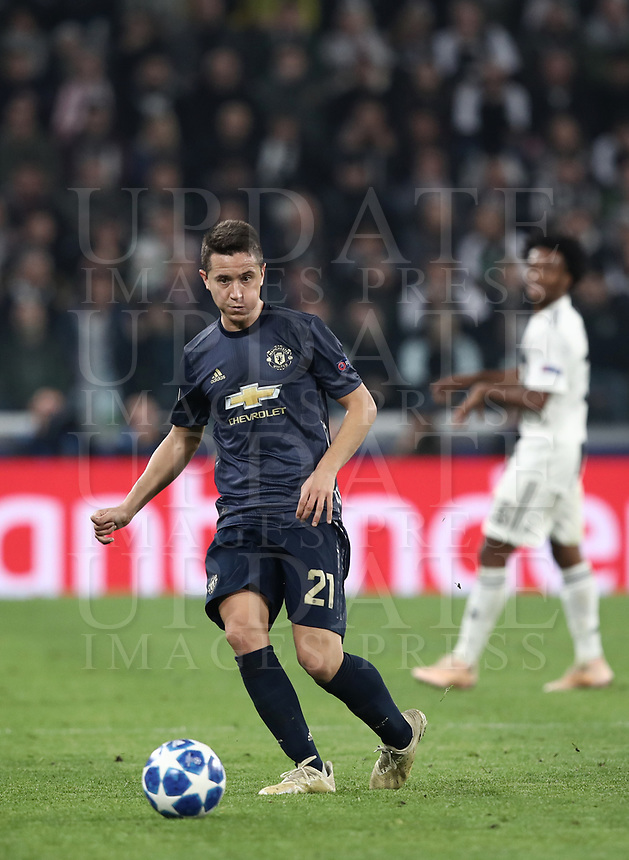 Football Soccer: UEFA Champions League -Group Stage-  Group H - Juventus vs Manchester United, Allianz Stadium. Turin, Italy, November 07, 2018.<br /> Manchester United's Ander Herrera in action during the Uefa Champions League football soccer match between Juventus and Manchester United at Allianz Stadium in Turin, November 07, 2018.<br /> UPDATE IMAGES PRESS