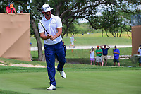 Scott Piercy (USA) reacts to missing his putt on 18 during round 2 of the Valero Texas Open, AT&amp;T Oaks Course, TPC San Antonio, San Antonio, Texas, USA. 4/21/2017.<br /> Picture: Golffile | Ken Murray<br /> <br /> <br /> All photo usage must carry mandatory copyright credit (&copy; Golffile | Ken Murray)