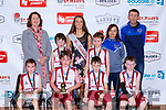 The Knockaderry NS team that played Kilmurry NS in the Junior NS Boys final front row l-r: Jack O'Shea, Padraig O'Sullivan, Diarmuid Casey, Sean Óg O'Leary-Griffin, Aine Daly Principal Eoin Corcoran, James Barry, Valarie Callaghan O'Shea, Sean Griffin Coach's