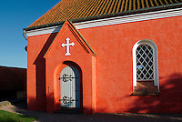 Pink Church in Svaneke, Bornholm Island, Denmark, Baltic Sea, Europe, Svaneke Kirke.Phil Degginger