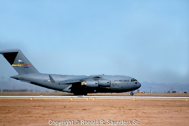 The C-17 Globemaster III is the newest,most flexible cargo aircraft to enter the airlift force. It is capable of rapid strategic delivery of troops and all types of cargo to main operating bases or directly to forward bases in the deployment area.<br />