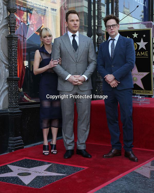 Anna Faris, Chris Pratt, James Gunn