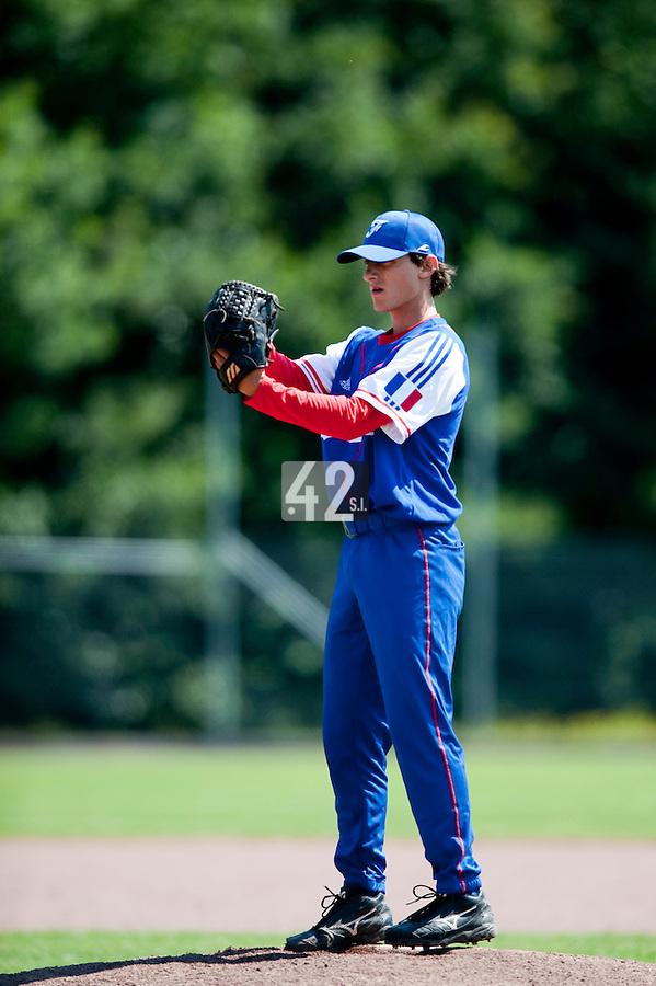 Baseball - 2009 European Championship Juniors (under 18 years old) - Bonn (Germany) - 04/08/2009 - Day 2 - Eloi Secleppe (France)