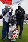 Vijay Singh arrives on the 1st tee on the opening hole during the final round of the BMW PGA Championship at Wentworth Club, Surrey, England 27th May 2007 (Photo by Eoin Clarke/NEWSFILE)
