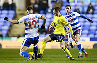 Blackburn Rovers' Corry Evans competing with Reading's Matt Miazga  <br /> <br /> Photographer Andrew Kearns/CameraSport<br /> <br /> The EFL Sky Bet Championship - Reading v Blackburn Rovers - Wednesday 13th February 2019 - Madejski Stadium - Reading<br /> <br /> World Copyright © 2019 CameraSport. All rights reserved. 43 Linden Ave. Countesthorpe. Leicester. England. LE8 5PG - Tel: +44 (0) 116 277 4147 - admin@camerasport.com - www.camerasport.com