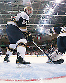 Sean Lorenz (Notre Dame - 24) - The University of Notre Dame Fighting Irish defeated the University of New Hampshire Wildcats 2-1 in the NCAA Northeast Regional Final on Sunday, March 27, 2011, at Verizon Wireless Arena in Manchester, New Hampshire.