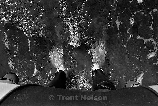 Trent feet and waves and sand<br />