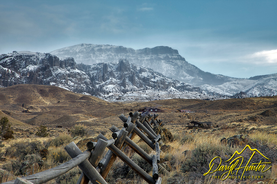 fresh snow, Absaroka Mountain, Wapati Valley, Bighorn Basin, Cody Wyoming