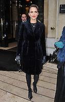 Jessica Alba attends the Dior fashion show in Paris - France