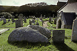 St Levans Stone. Cornwall England. <br />