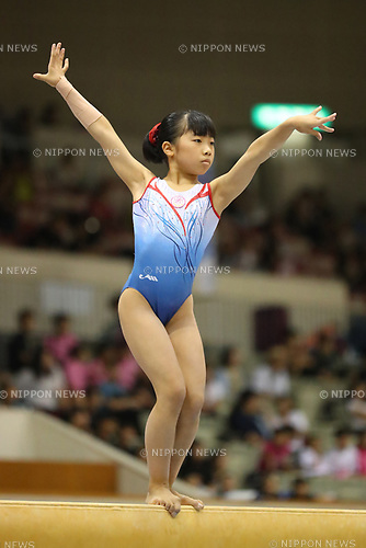 Urara Ashikawa (), <br /> AUGUST 21, 2017 - Artistic Gymnastics : <br /> 48th All Japan Junior High School Championships <br /> Women's Individual All-Around <br /> Balance Beam <br /> at Kitakyushu City General Gymnasium, Fukuoka, Japan. <br /> (Photo by YUTAKA/AFLO)