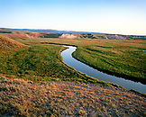 USA, Wyoming, stream flowing through Hayden Valley, Yellowstone National Park