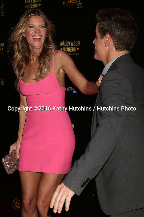 LOS ANGELES - APR 27:  Michelle Stafford, Christian LeBlanc at the 2016 Daytime EMMY Awards Nominees Reception at the Hollywood Museum on April 27, 2016 in Los Angeles, CA