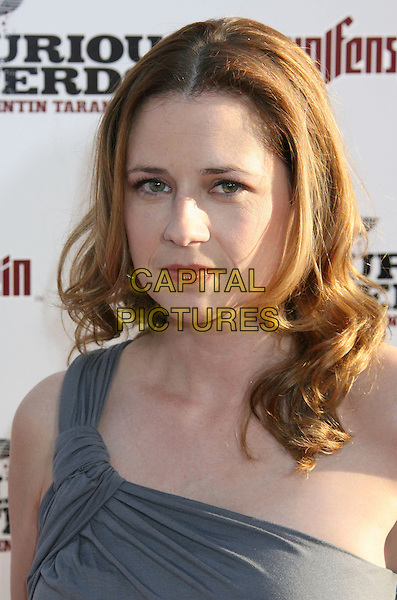 "JENNA FISCHER .""Inglourious Basterds"" Los Angeles Premiere held at Grauman's Chinese Theatre, Hollywood, California, USA, 10th August 2009..portrait headshot grey gray one shoulder .CAP/ADM/MJ.©Michael Jade/Admedia/Capital Pictures"