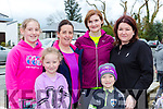 Kate and Karen Sheahan, Roisin O'Sullivan, Mairead Buckley Eadaoin and Tomas O'Sullivan enjoying the  Good Friday walk in Kilcummin