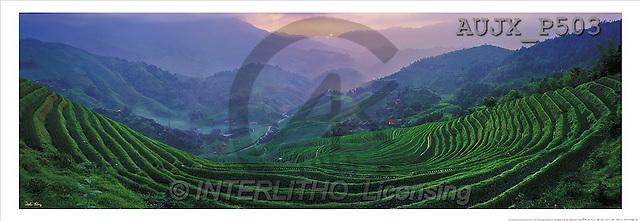 Dr. Xiong, LANDSCAPES, panoramic, photos, At the Sunrises, Longji, China(AUJXP503,#L#)