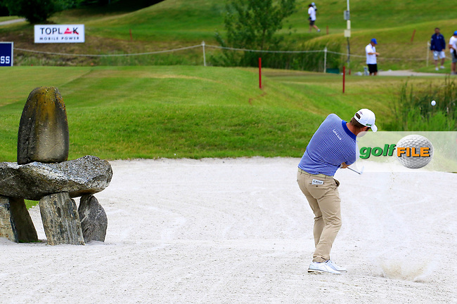 Matthew Baldwin (ENG) during the third round of the Lyoness Open powered by Organic+ played at Diamond Country Club, Atzenbrugg, Austria. 8-11 June 2017.<br /> 10/06/2017.<br /> Picture: Golffile | Phil Inglis<br /> <br /> <br /> All photo usage must carry mandatory copyright credit (&copy; Golffile | Phil Inglis)