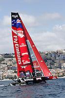NAPOLI WORLD SERIES DELL AMERICAN'S CUP 2012.NELLA FOTO NEW ZELAND.FOTO CIRO DE LUCA