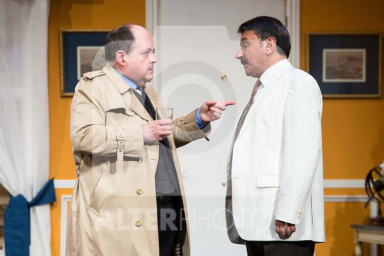 Antonio M. and Jose Luis Gago at &quot;Usted puede ser un asesino&quot; Theater play in Mu&ntilde;oz Seca Theater, Madrid, Spain, September 07, 2015. <br /> (ALTERPHOTOS/BorjaB.Hojas)