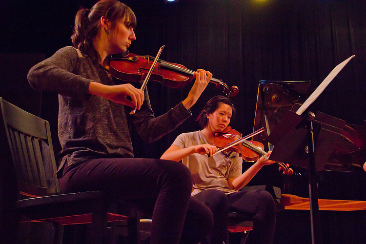Port Townsend, Centrum, Chamber Music Workshop, June 16-21 2015, Fort Worden, musicians teaching workshop artists, Quartet Elektra, Annika Bryann-Lascara Jenkins, violin, Jocelyn Zhu, violin, (light blouse)