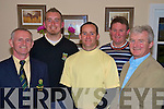 Pictured at the presentation of prizes at the Beaufort Golf Club fundraiser on Monday were Brian O'Connor, Captain, John Griffin and Shane Horgan, 1st,, John English,3rd, and Philip O'Neill, Permanent TSB, Sponsors...NO REPRODUCTION FEE.....NO REPRODUCTION FEE......