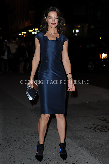 WWW.ACEPIXS.COM<br /> October 22, 2015 New York City<br /> <br /> Katie Holmes arriving to attend the 2015 Fashion Group International's Night Of Stars at Cipriani Wall Street on October 22, 2015 in New York City.<br /> <br /> Credit: Kristin Callahan/ACE<br /> Tel: (646) 769 0430<br /> e-mail: info@acepixs.com<br /> web: http://www.acepixs.com