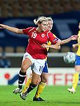 Ingvild Isaksen, Victoria Svensson, QF, Sweden-Norway, Women's EURO 2009 in Finland, 09042009, Helsinki Football Stadium.