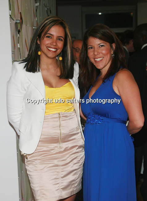 MetroGuest Founder and General Manager Gladys Valente and Whitegate PR's Dana Humphrey Attend the MetroGuest Website Launch Party Event Hosted by So So, Incredibly Beautiful Featuring Artwork by Carlos Charlie Perez and Julio Cesar Gonzalez at The Sky House, NY 5/4/2011