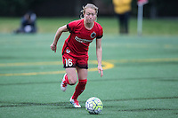 Seattle, Washington - Saturday May 14, 2016: Portland Thorns FC defender Emily Sonnett (16) first half of a match at Memorial Stadium on Saturday May 14, 2016 in Seattle, Washington. The match ended in a 1-1 draw.