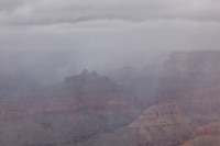Angels Gate during a snow storm, taken on the Grandview Trail on a November backpacking trip in Grand Canyon National Park.