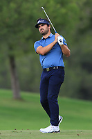 Antoine Rozner (FRA) on the 9th fairway during Round 1 of the Challenge Tour Grand Final 2019 at Club de Golf Alcanada, Port d'Alcúdia, Mallorca, Spain on Thursday 7th November 2019.<br /> Picture:  Thos Caffrey / Golffile<br /> <br /> All photo usage must carry mandatory copyright credit (© Golffile | Thos Caffrey)