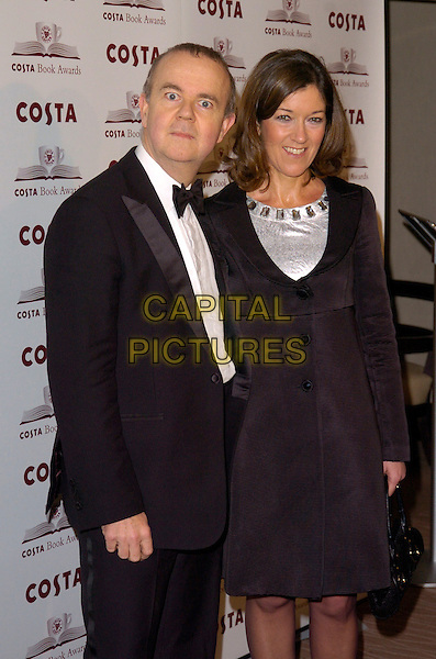 IAN HISLOP & GUEST.At The Costa Book Awards 2007, Intercontinental Hotel, London, England, January 22nd 2007..half length black black bow tie suit tuxedo .CAP/CAN .©Can Nguyen/Capital Pictures