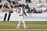 Stephen Eskinazi of Middlesex CCC acknowledges his half century during Middlesex CCC vs Lancashire CCC, Specsavers County Championship Division 2 Cricket at Lord's Cricket Ground on 11th April 2019