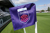 The new Barclays FAWSL corner flag during Arsenal Women vs West Ham United Women, Barclays FA Women's Super League Football at Meadow Park on 8th September 2019