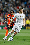 Real Madrid´s Toni Kroos during Champions League soccer match between Real Madrid and Shakhtar Donetsk at Santiago Bernabeu stadium in Madrid, Spain. Spetember 15, 2015. (ALTERPHOTOS/Victor Blanco)