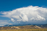 Summer rain and thunderstorm over the Grand Mesa of western Colorado.