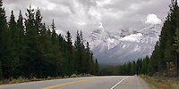 Scenic Hwy 93 in Banff National Park, Alberta Canada