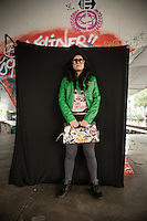 Aeruska Alfonzo (mayor de edad). Portraits of Adolescents San Cosme skate park, in Mexico City. Releas #9