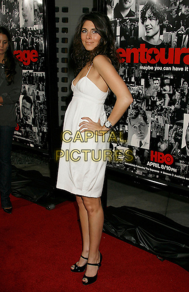"JAMIE-LYNN DiSCALA.Attending the ""Entourage"" Third Season Los Angeles Premiere held at the ArcLight Cinemas Cinerama Dome. Hollywood, California, USA, 05 April, 2007..full length jaime jamie lynn hand on hip.CAP/ADM/RE.©Russ Elliot/AdMedia/Capital Pictures."