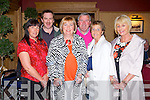 LlIVING LEGENDS CONCERT: Enjoying a great time at the Living Legends concert with Francie Conway and friends in aid of the Tralee and West MS Society and Animal Heaven, Animal Resuse Kerry at the Meadowlands hotel, Tralee on Saturday l-r: Myra Spillane, Ray Spillane, Anne Burrows, Henry Burrows, Audrey Horan and Marie Morrison.