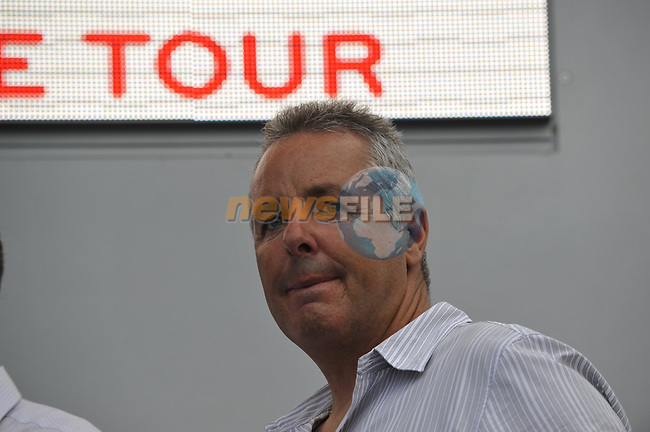 Stephen Roche on the podium at the end of the Prologue Stage 1 of the 2009 Tour de France a 15.5km individual time trial held around Monaco. 4th July 2009 (Photo by Eoin Clarke/NEWSFILE)