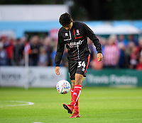 Lincoln City's Ziyad El-Oyouni during the pre-match warm-up<br /> <br /> Photographer Chris Vaughan/CameraSport<br /> <br /> The Carabao Cup Second Round - Lincoln City v Everton - Wednesday 28th August 2019 - Sincil Bank - Lincoln<br />  <br /> World Copyright © 2019 CameraSport. All rights reserved. 43 Linden Ave. Countesthorpe. Leicester. England. LE8 5PG - Tel: +44 (0) 116 277 4147 - admin@camerasport.com - www.camerasport.com