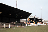 General view of Crook Town AFC Football Ground, Millfield Ground, Crook, County Durham, pictured on 7th April 1996