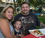 Lydia, Andres and Deppey during Sizzling Saturdays Food Truck event in Sparks on Saturday, July 20, 2019.