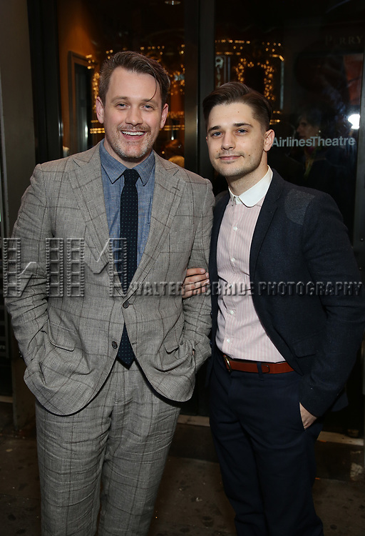 """Michael Arden and Andy Mientus Attends the Broadway Opening Night of """"All My Sons"""" at The American Airlines Theatre on April 22, 2019  in New York City."""