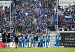 15.04.2018, Wirsol Rhein-Neckar-Arena, Sinsheim, GER, 1.FBL, TSG 1899 Hoffenheim vs Hamburger SV, im Bild<br />Die Hoffenheimer Spieler bedanken sich bei den Fans<br /> Foto &copy; nordphoto / Bratic