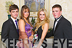 Pictured at the Gaelcholáiste Chiarraí Debs on Friday night in the Abbeygate hotel are, from left: Daniel Browne, Nicole Farrelly, Olivia Cheevers and Luke Gleasure.